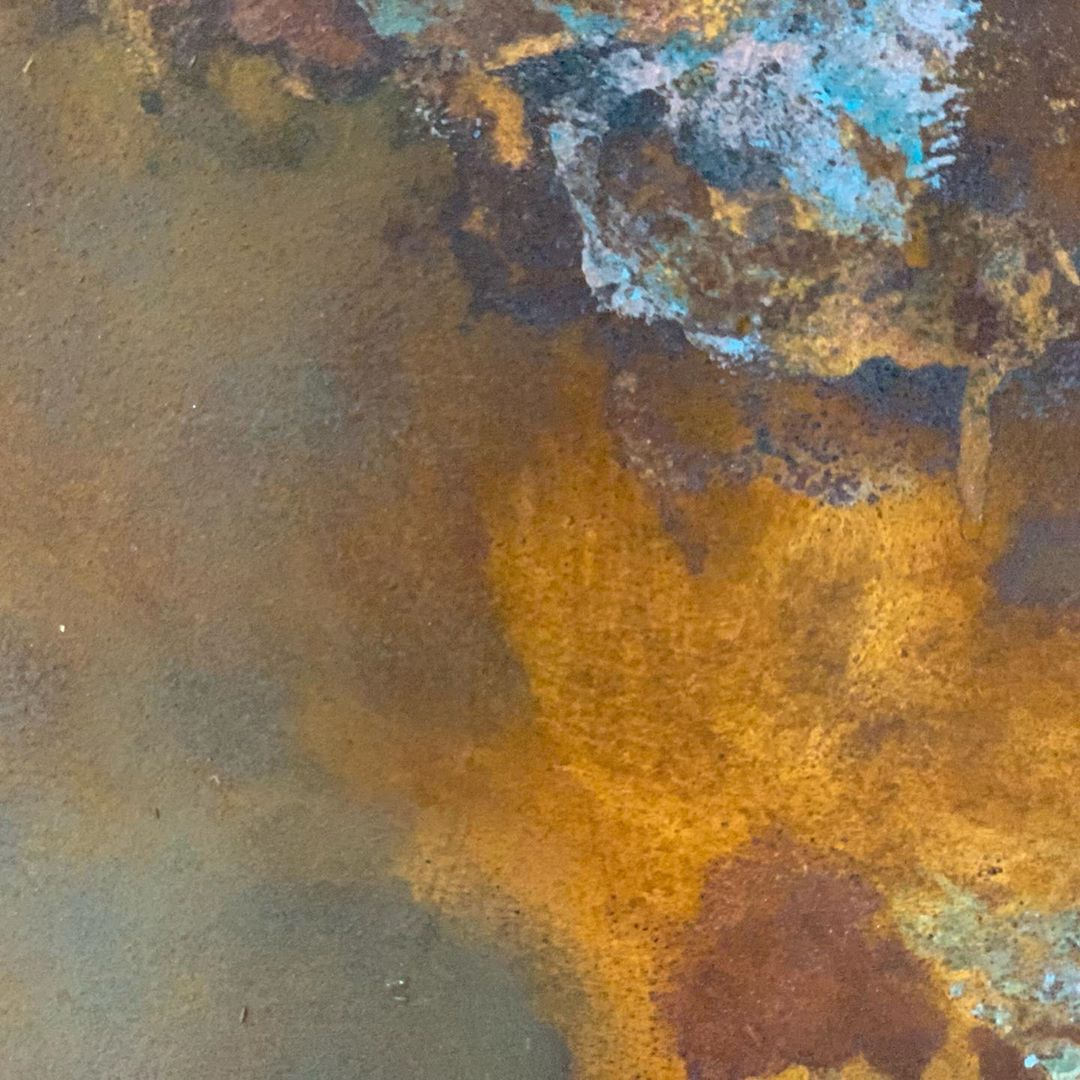 Venetian Plaster Finish Close Up Rusted - Calce & Calce Yorkshire Venetian Plastering