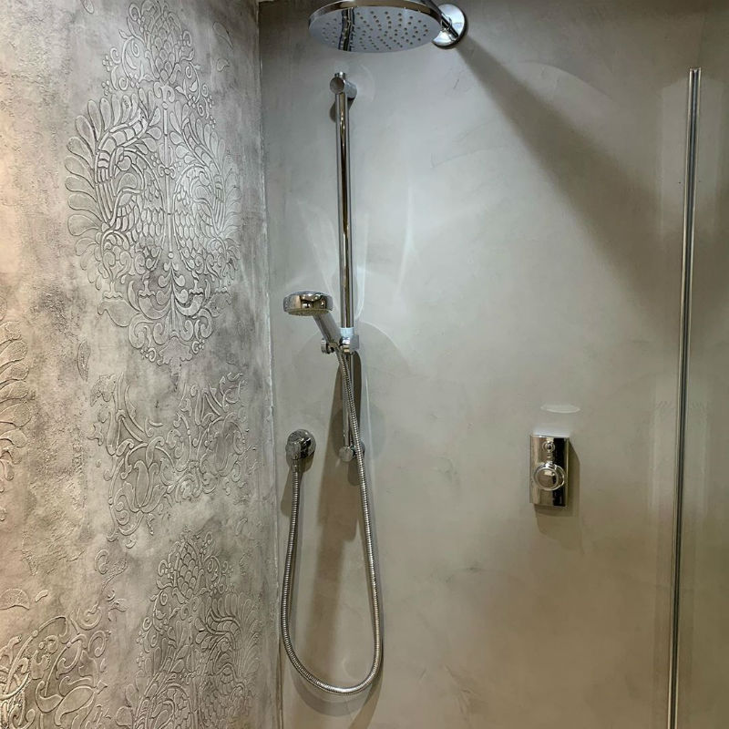 Venetian Plaster Calce & Calce -Bespoke Venetian Plaster Wet Room 3