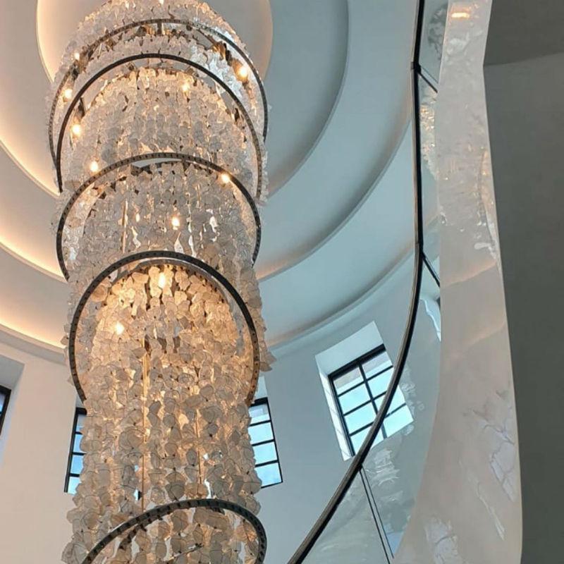 Venetian Plaster Calce & Calce - Luxury Spiral Staircase venetian plaster