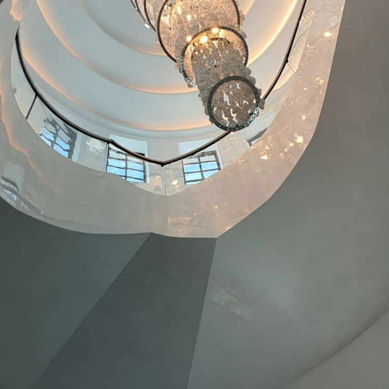 Venetian Plaster Calce & Calce - Spiral Staircase 5